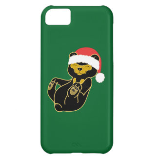 Christmas Sun Bear with Red Santa Hat iPhone 5C Cover