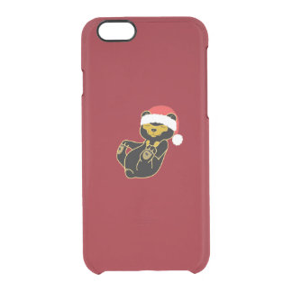 Christmas Sun Bear with Red Santa Hat Uncommon Clearly™ Deflector iPhone 6 Case