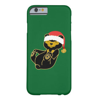 Christmas Sun Bear with Santa Hat & Jingle Bell Barely There iPhone 6 Case
