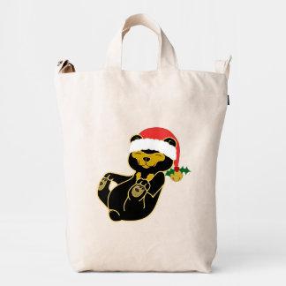 Christmas Sun Bear with Santa Hat & Jingle Bell Duck Bag