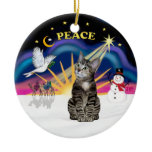 Christmas Sunrise - Brown Tabby Tiger cat Ornaments