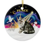 Christmas Sunrise - Exotic Short Hair Tabby Cat Christmas Tree Ornament