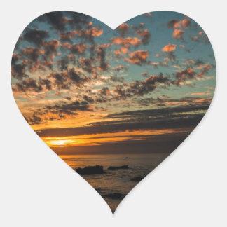 Christmas Sunset Heart Sticker