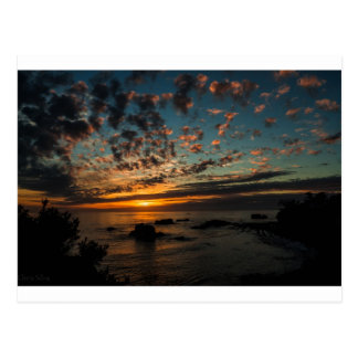 Christmas Sunset Postcard