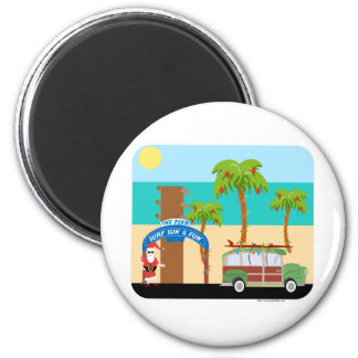 Christmas Surfing Magnet