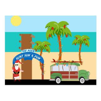 Christmas Surfing Postcard