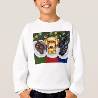 Christmas Surprise Labrador Puppies Sweatshirt