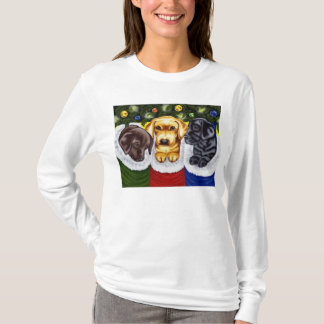 Christmas Surprise Labrador Puppies T-Shirt