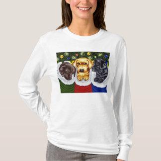 Christmas Surprise Labrador Puppies T-Shirt