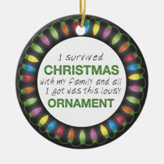 Christmas Survival Ceramic Ornament