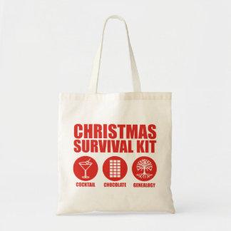 Christmas Survival Kit - Cocktail Budget Tote Bag