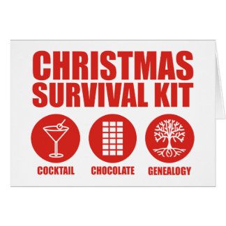 Christmas Survival Kit - Cocktail Greeting Card
