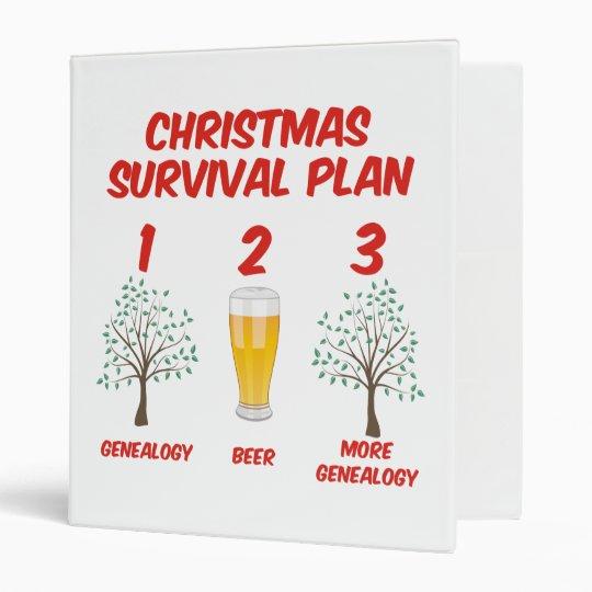 Christmas Survival Plan 3 Ring Binder
