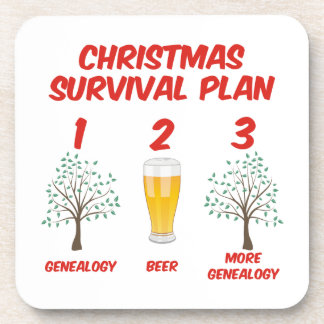 Christmas Survival Plan Drink Coaster