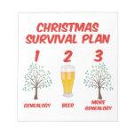 Christmas Survival Plan Memo Note Pads