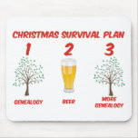 Christmas Survival Plan Mouse Pad