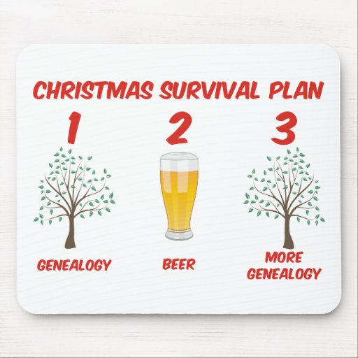 Christmas Survival Plan Mousepad