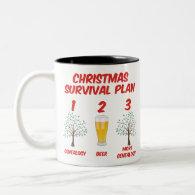 Christmas Survival Plan Coffee Mugs