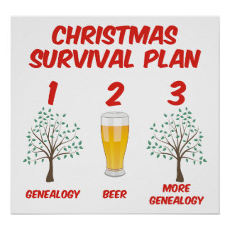 Christmas Survival Plan Posters
