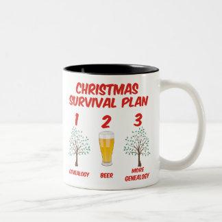 Christmas Survival Plan Two-Tone Coffee Mug
