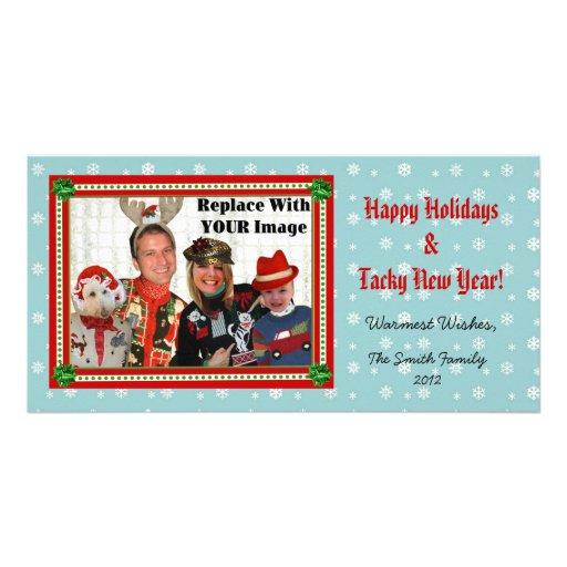 Christmas Sweater-izer Snowflake Photo Card Horiz