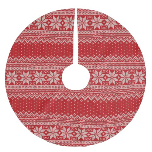 Christmas Sweater Knitting Pattern - RED Brushed Polyester Tree Skirt
