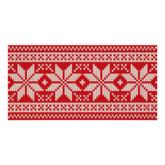 Christmas Sweater Knitting Pattern - RED Card