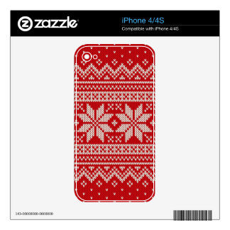 Christmas Sweater Knitting Pattern - RED Decals For The iPhone 4S