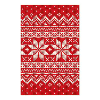 Christmas Sweater Knitting Pattern - RED Flyer