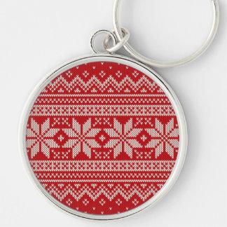 Christmas Sweater Knitting Pattern - RED Keychain