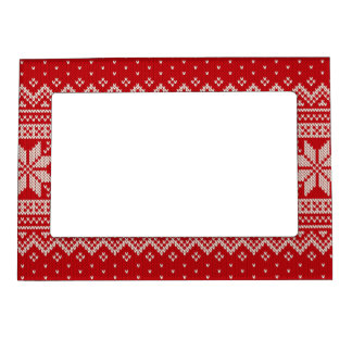 Christmas Sweater Knitting Pattern - RED Magnetic Frame