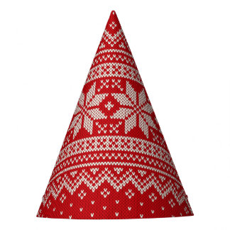 Christmas Sweater Knitting Pattern - RED Party Hat