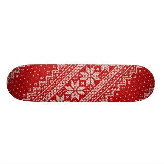 Christmas Sweater Knitting Pattern - RED Skateboard