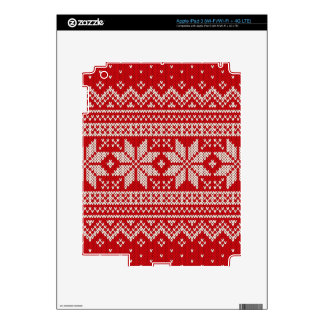 Christmas Sweater Knitting Pattern - RED Skin For iPad 3