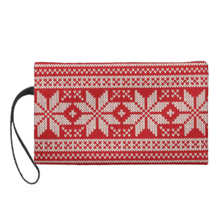 Christmas Sweater Knitting Pattern - RED Wristlet