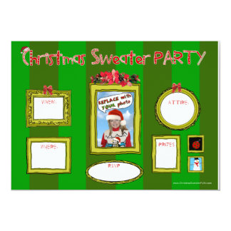 Christmas Sweater Party Invitation_template1 5x7 Paper Invitation Card