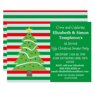 Christmas Sweater Party Invitations