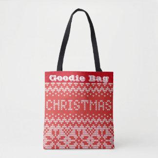 Christmas Sweater Pattern Goodie Bag