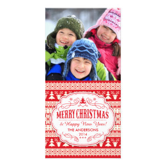 Christmas Sweater Pattern Holiday Picture Picture Card