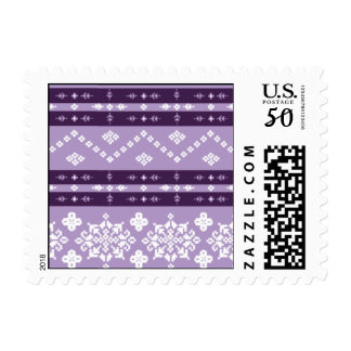 Christmas Sweater - Purple & Gold Postage