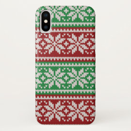 Christmas Sweater Snowflake iPhone Case