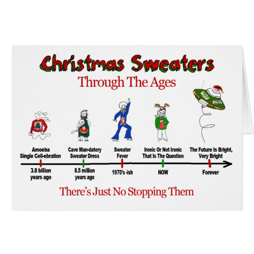 christmas sweater timeline card