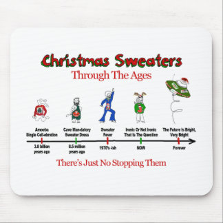 Christmas Sweater Timeline Mouse Pad