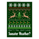 Christmas Sweater Weather Folded Greeting Card