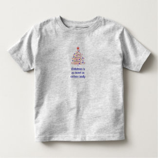 """Christmas/Sweet as Cotton Candy"" Toddler T-shirt"