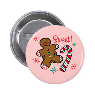 Christmas Sweet 2 Inch Round Button