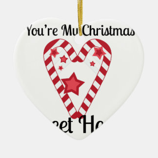 Christmas Sweet Heart Ceramic Ornament