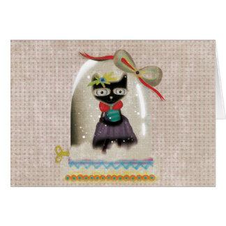 Christmas sweet little cat card
