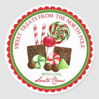 Christmas Sweet Stripes Holiday Stickers