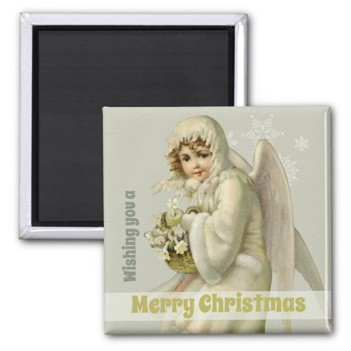 Christmas Sweet Victorian snow angel CC1190 Magnet